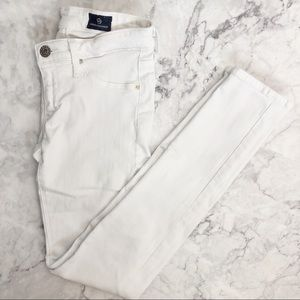 Adriano Goldschmied The Legging Ankle white jeans